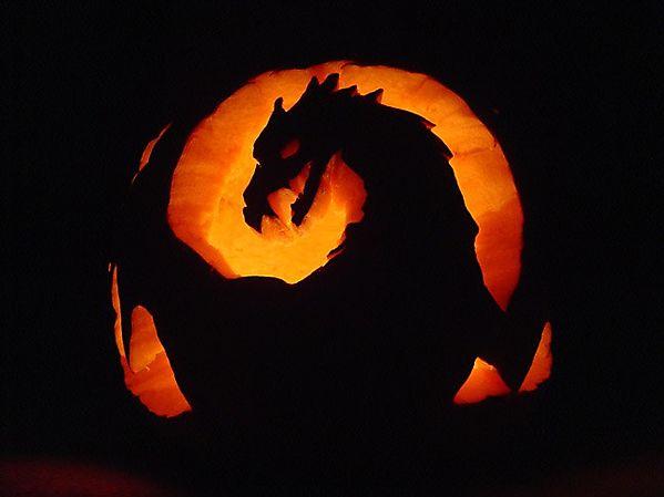 Силуэт дракона