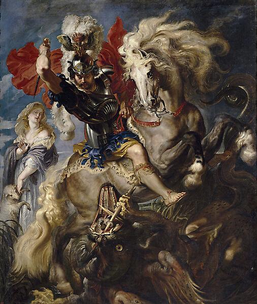 Святой Георгий и Дракон. Питер Рубенс