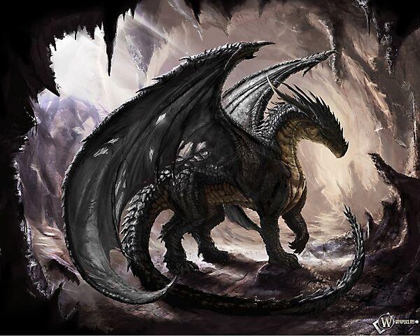 wpapers_ru_Дракон-в-пещере