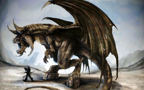 Рогатый дракон минотавр