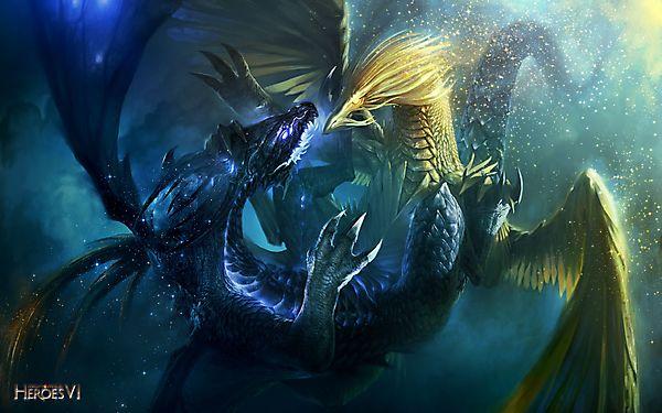 Сражение двух драконов