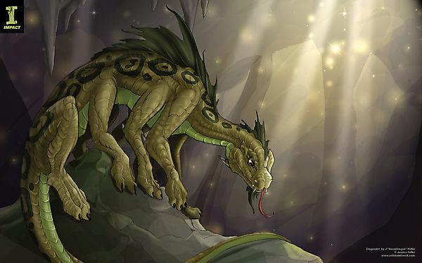 Дракон ящер с восемью ногами