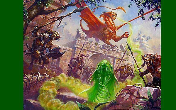 Дракон защищает замок