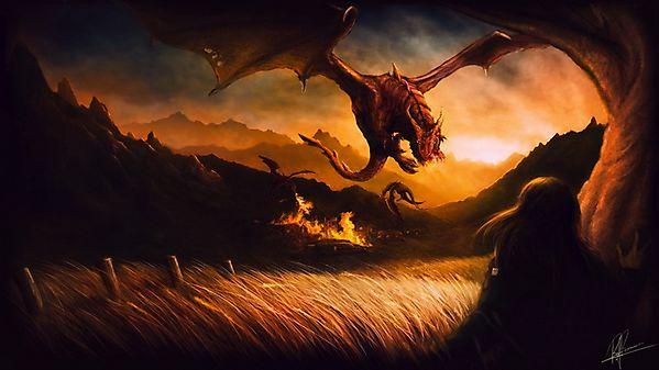 Драконы в поле