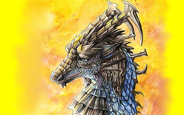 Рисунок красивого дракона