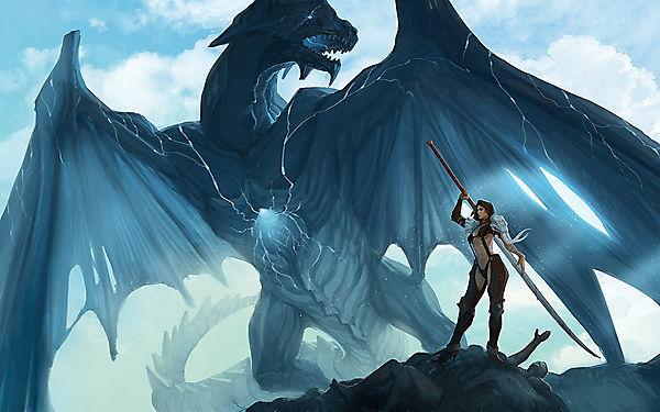 Синий дракон и воительница