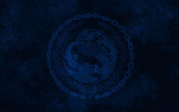 Дракон в синих тонах