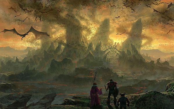 Герои перед царством драконов