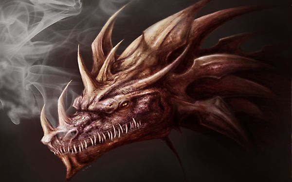 Рогатый дракон и дым