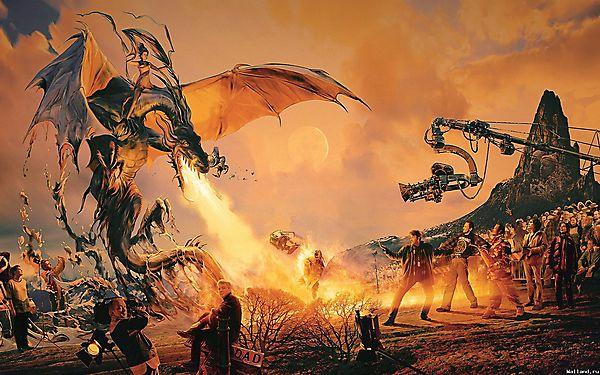Дракон на съемочной площадке
