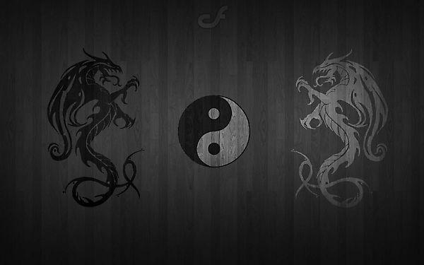 Инь и Янь драконы