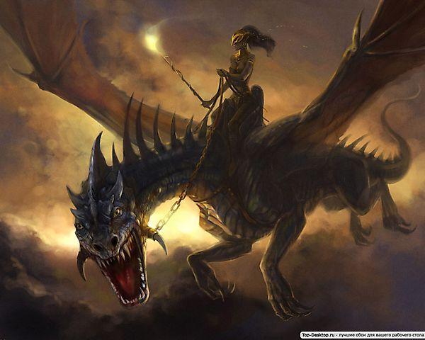 Дракон и наездница