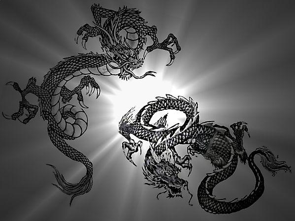 Два восточных дракона