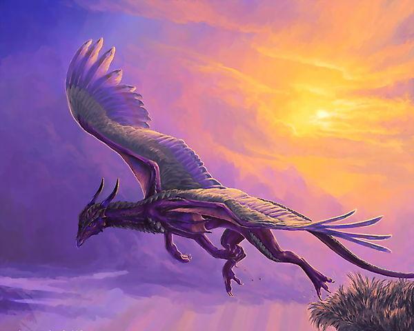 Дракон, вылетающий из гнезда