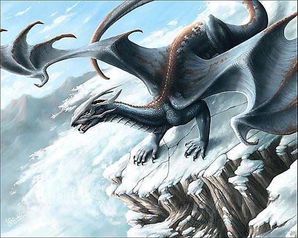 Дракон на снежной горе
