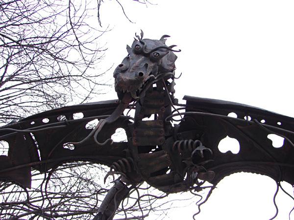 Дракон из парка кованых фигур, Донецк, Украина
