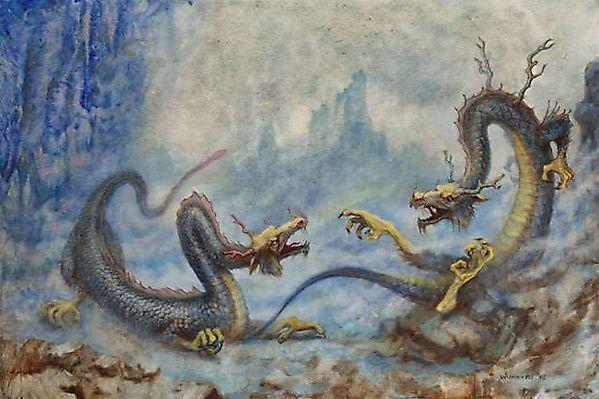 Два дракона спорят о сущности бытия
