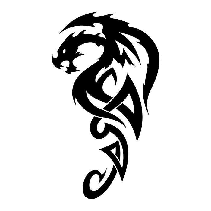 Изображение тату дракон