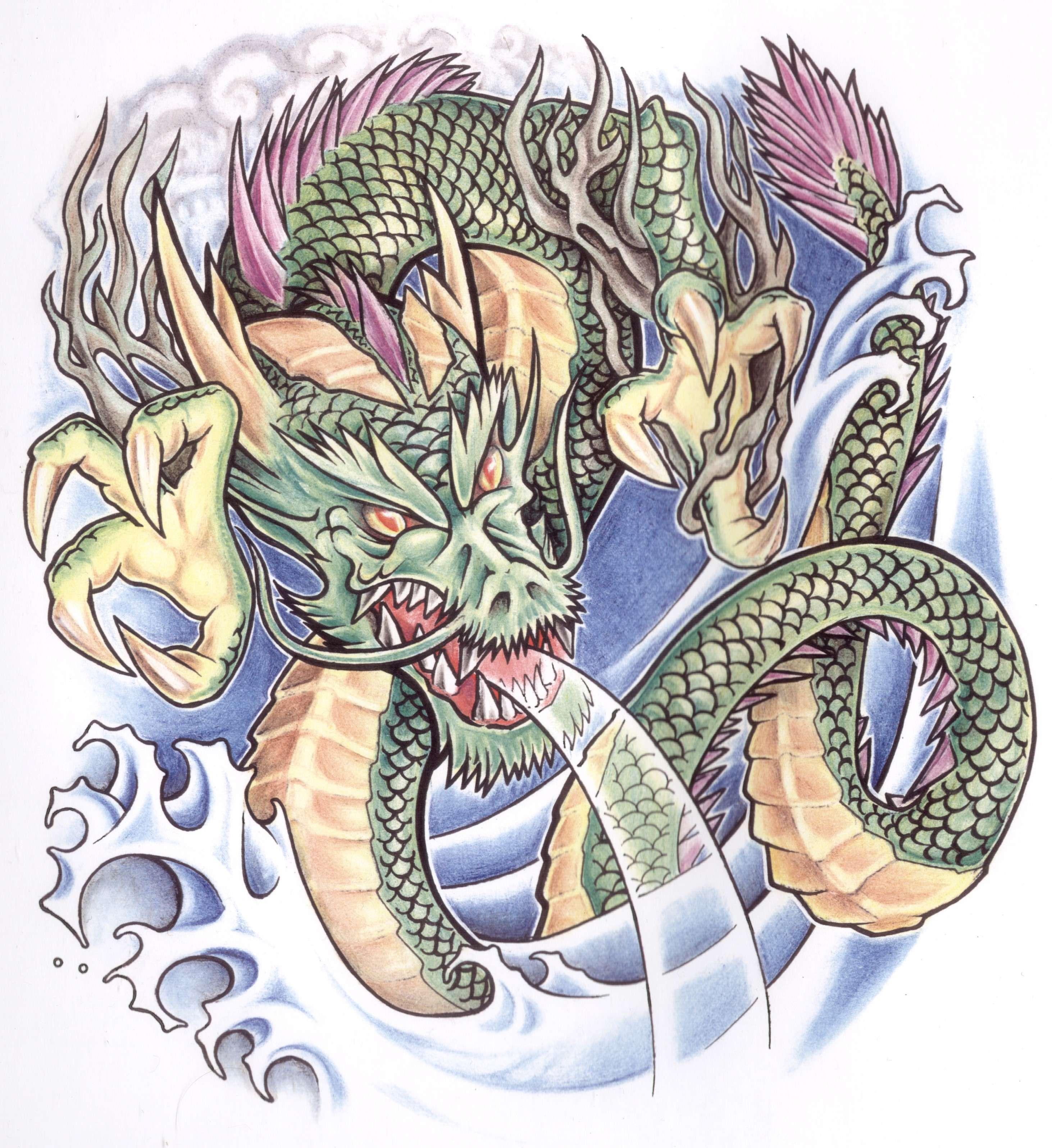 Выкройка драконов на бумаге