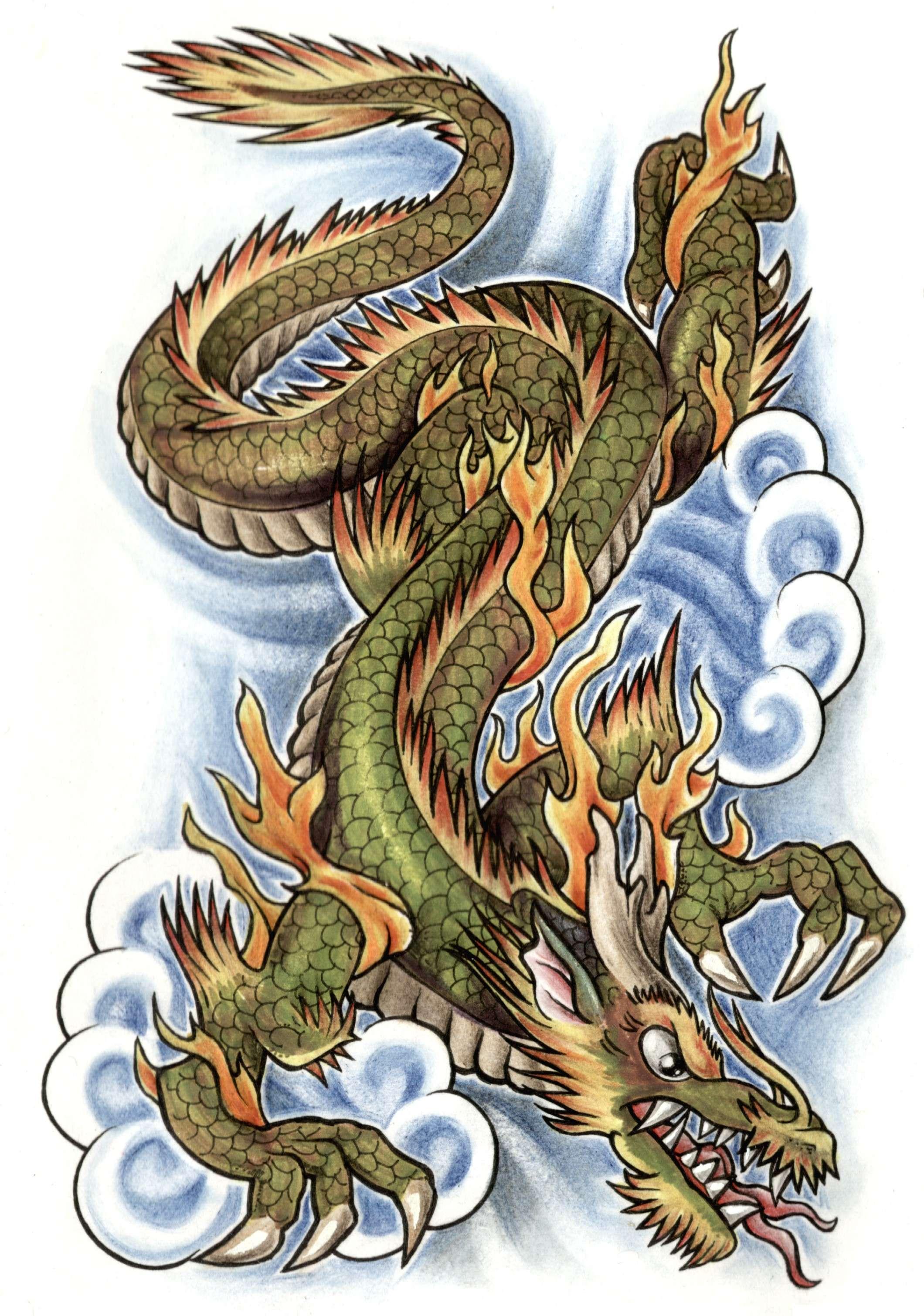 Тату дракона рисунки фото