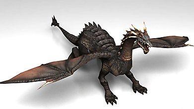Трёхмерное изображение настоящего дракона