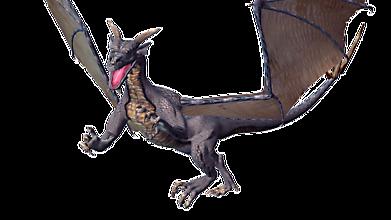 Крылатый дракон атакует жертву
