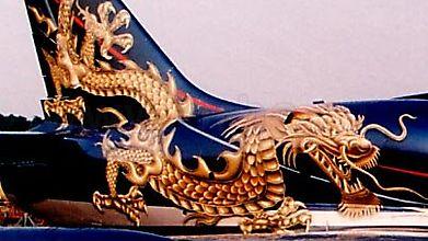 Аэрография дракона на самолете