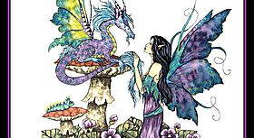Фея и её маленький ручной дракон