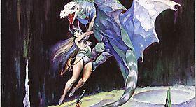 FRANK FRAZETTA - Дракон похищает сочную красотку