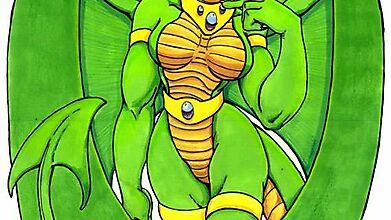 Зеленокожая красавица