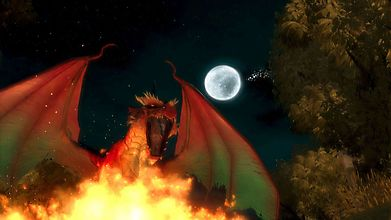 Дракон беснуется на Луну