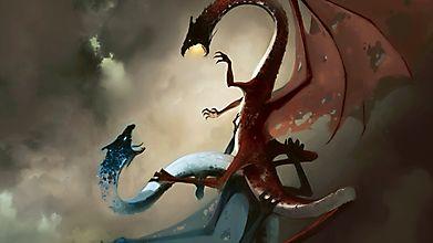 Два дракона дерутся