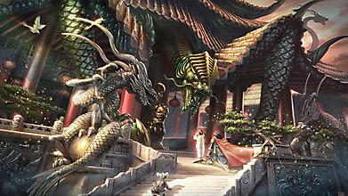 Китайский дом в виде дракона