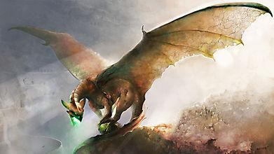 Реалистичный рисунок дракона