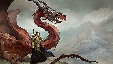Дракон с воином