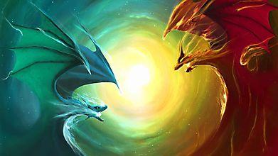 Красный и синий дракон
