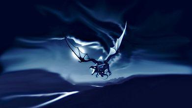 Летящий в ночи дракон