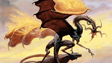 Худой дракон на скале