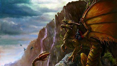 Зеленый дракон и всадник