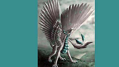 Дракон с пернатыми крыльями