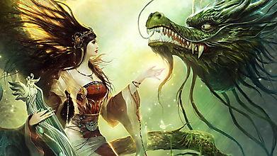 Дракон и девушка