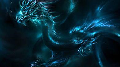 Неоновый восточный дракон