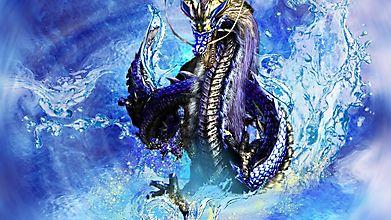 Восточный дракон из воды