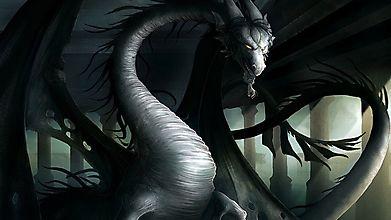 Дракон в колонном зале