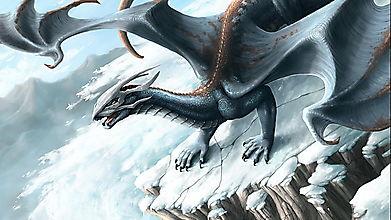 Дракон на снежной скале
