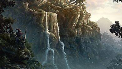Маг наконец-то выследил дракона у водопада