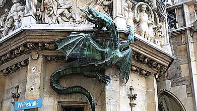 Дракон площади Мариенплац, Мюнхен