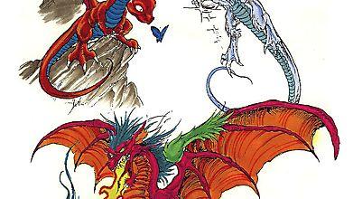Три тату с тремя разными драконами