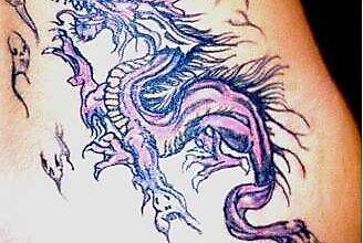 Рисунок дракона и его неведомых спутников