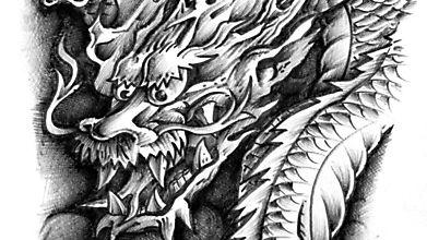 Дракон пережидает грозу в своём логове